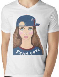 Team Cute Mens V-Neck T-Shirt