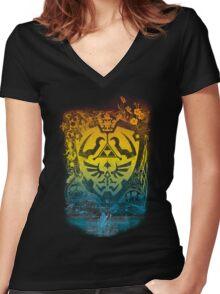 garden of wisdom Women's Fitted V-Neck T-Shirt