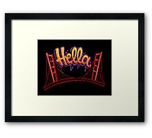 Hella - SF [Black] Framed Print