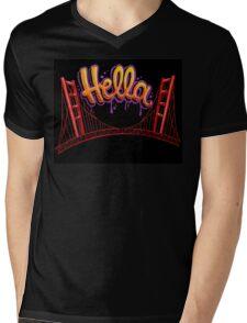 Hella - SF [Black] Mens V-Neck T-Shirt
