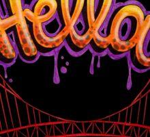 Hella - SF [Black] Sticker