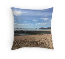 Seaweed and Sandcastles Throw Pillow