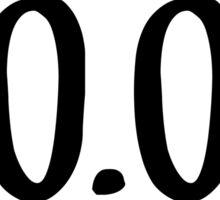 0.0 Sticker