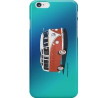21 Window VW Bus Samba Bus Red White w Blue Backgr iPhone Case/Skin