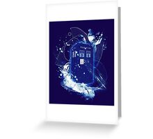waves of space and time Greeting Card