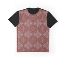 """Sliced pomegranat"" organic forms,  bohemian pattern, terracotta and grey tones Graphic T-Shirt"