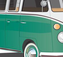 21 Window VW Bus Samba Bus Green Sticker