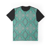 """Sliced pomegranat"" organic forms,  bohemian pattern, mint and grey tones Graphic T-Shirt"