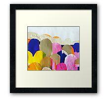Coloured Boulders Framed Print