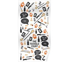 The Foxhole Court Pattern Poster