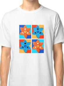 Daffodils retro style pattern Classic T-Shirt