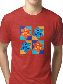 Daffodils retro style pattern Tri-blend T-Shirt