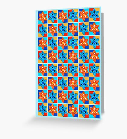 Daffodils retro style pattern Greeting Card