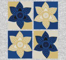 Daffodils pattern One Piece - Long Sleeve