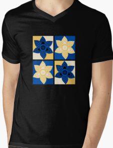 Daffodils pattern Mens V-Neck T-Shirt