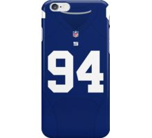 New York Giants Mark Herzlich Color Jersey iPhone Case/Skin