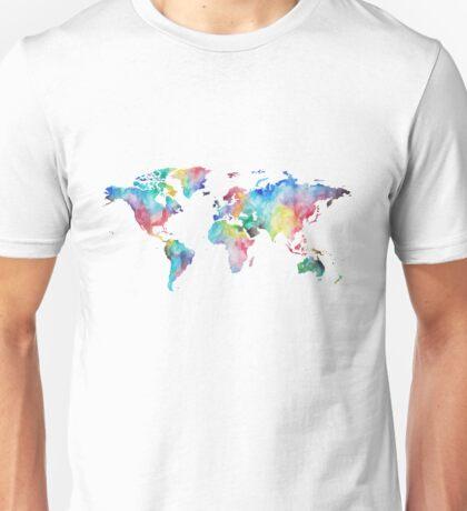 Watercolor Map Unisex T-Shirt