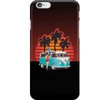 21 Window VW Bus with Palms and Girl iPhone Case/Skin