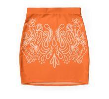ink floral design Mini Skirt