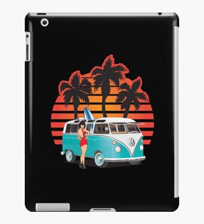 21 Window VW Bus Teal Samba Bus with Girl iPad Case/Skin