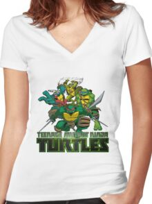 Ninja turtles Women's Fitted V-Neck T-Shirt