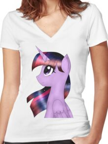 My Little Pony Twilight Sparkle Women's Fitted V-Neck T-Shirt