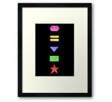 Power Rangers Zeo Symbols 1 Framed Print