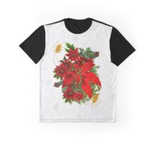 Poinsettia Holiday Bouquet Graphic T-Shirt
