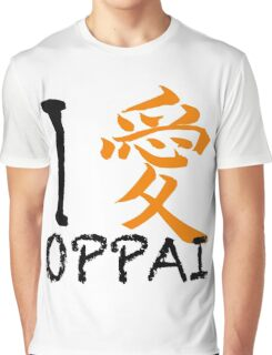 "I Love Oppai shirt (Symbol means ""Love"") Graphic T-Shirt"