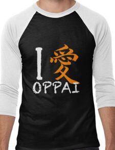 """I Love Oppai shirt (Symbol means """"Love"""") Men's Baseball ¾ T-Shirt"""