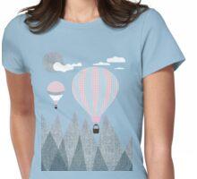 Denim Mountain  Womens Fitted T-Shirt