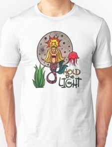 Hold the Light: Magical Mermaid Original Watercolor Illustration Unisex T-Shirt