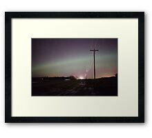 Lights in the night Framed Print