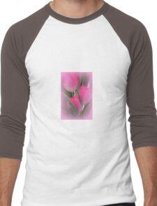 A Vision Of Pink Tulips Men's Baseball ¾ T-Shirt