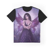 Mirabella Purple Butterfly Fairy Graphic T-Shirt