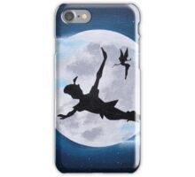 peter pan moon - acrylic painting iPhone Case/Skin