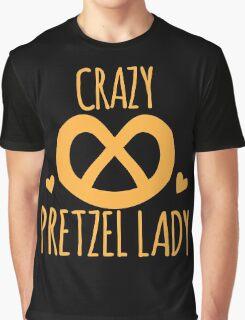 Crazy Pretzel Lady Graphic T-Shirt