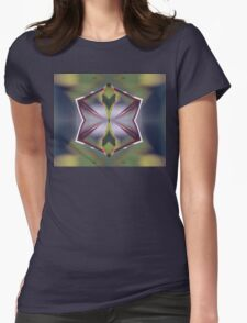 Fractal Leaf -1 Womens Fitted T-Shirt