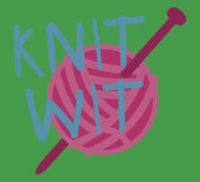 KNIT WIT with ball of wool Kids Tee