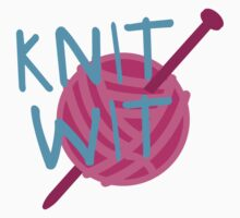 KNIT WIT with ball of wool Baby Tee