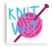 KNIT WIT with ball of wool Canvas Print