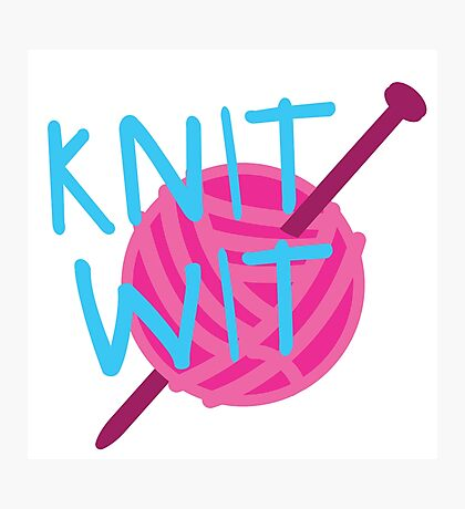 KNIT WIT with ball of wool Photographic Print