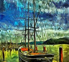Cape Foulweather Tall Ship by Thom Zehrfeld