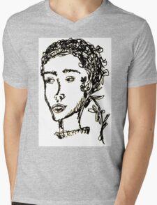 Rodarte Floral Lady 1 Mens V-Neck T-Shirt