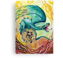 Dragon Guarding Pyrite Canvas Print
