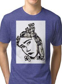 Rodarte Floral Lady 3 Tri-blend T-Shirt