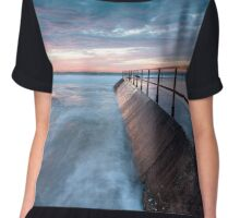 Cronulla Sunrise Chiffon Top