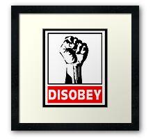 Disobey Revolution Framed Print