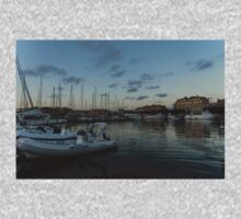 As the Evening Gently Comes - Ortygia, Syracuse, Sicily Grand Harbor  One Piece - Long Sleeve