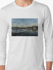 As the Evening Gently Comes - Ortygia, Syracuse, Sicily Grand Harbor  Long Sleeve T-Shirt
